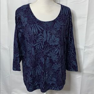 Chico's Sweaters - Chico's Size 3 Light Sweater Blue on Blue Design